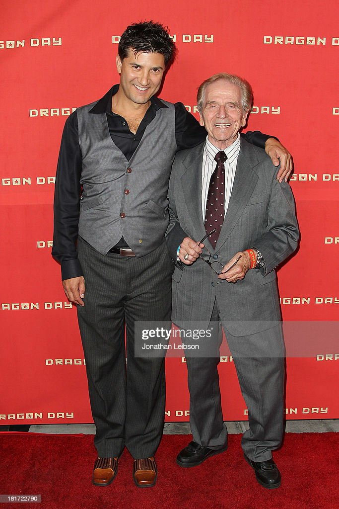 Ethan Flower and William Knight attend the 'Dragon Day' Red Carpet at Downtown Independent Theatre on September 23, 2013 in Los Angeles, California.