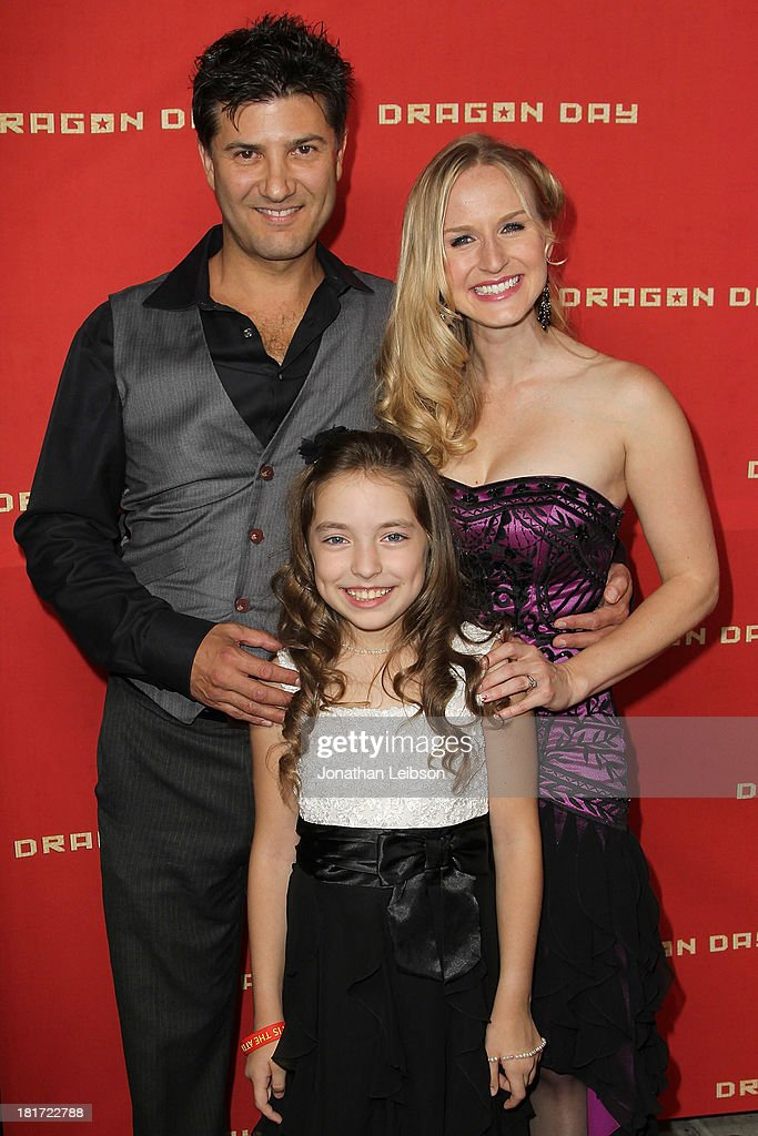 Ethan Flower, Hope Laubach and Jenn Gotzon attend the 'Dragon Day' Red Carpet at Downtown Independent Theatre on September 23, 2013 in Los Angeles, California.