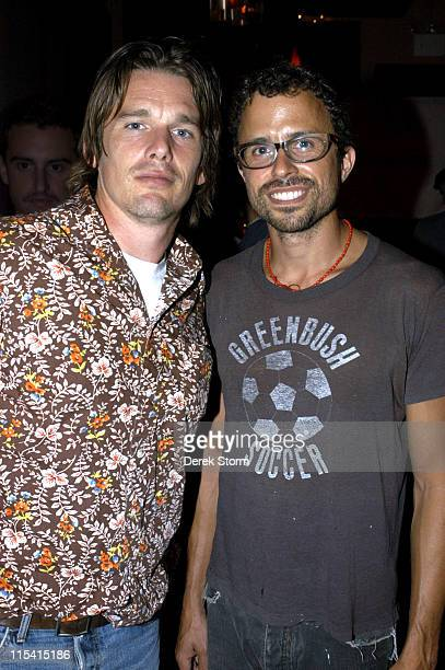 Ethan Hawke and Jesse Harris during Jesse Harris in Concert at The Living Room in New York City August 22 2005 at The Living Room in New York City...