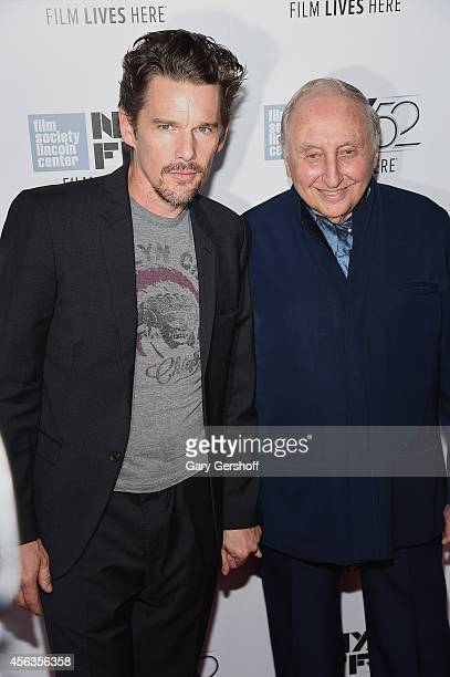 Ethan Hawke and Seymour Bernstein attend 'Seymour An Introduction' during the 52nd New York Film Festival at Alice Tully Hall on September 29 2014 in...