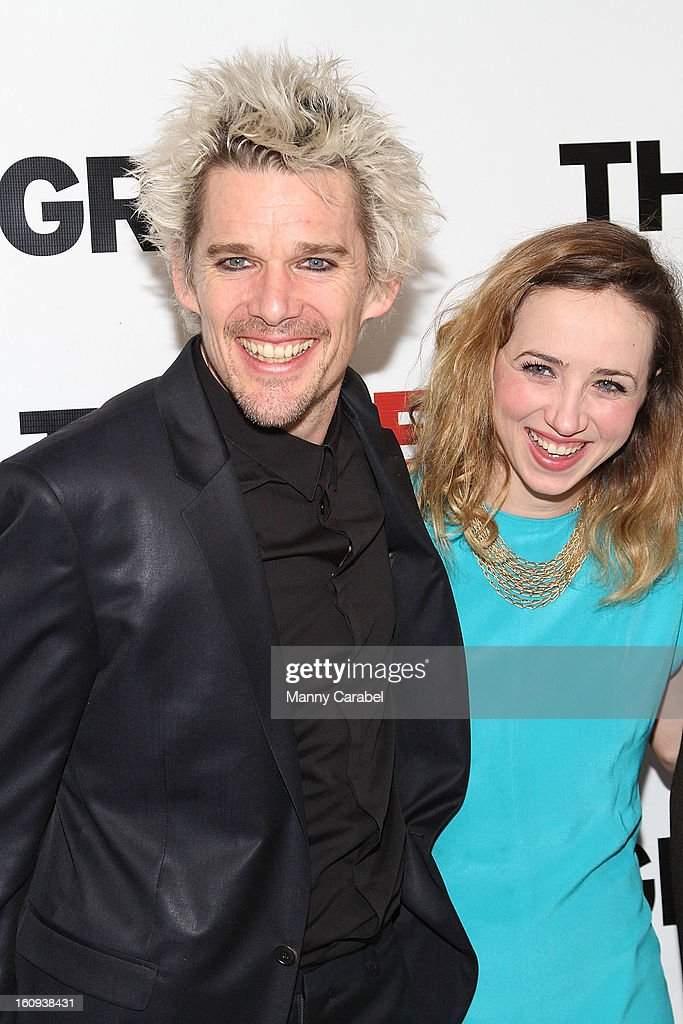 <a gi-track='captionPersonalityLinkClicked' href=/galleries/search?phrase=Ethan+Hawke&family=editorial&specificpeople=178274 ng-click='$event.stopPropagation()'>Ethan Hawke</a> and <a gi-track='captionPersonalityLinkClicked' href=/galleries/search?phrase=Zoe+Kazan&family=editorial&specificpeople=3953779 ng-click='$event.stopPropagation()'>Zoe Kazan</a> attend the World Premiere of 'Clive' at West Bank Cafe on February 7, 2013 in New York City.