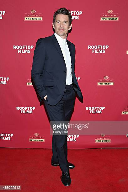 Ethan Hawke attends as Champagne PiperHeidsieck and Rooftop Films present a special preview of Ethan Hawke's new documentary 'Seymour An...