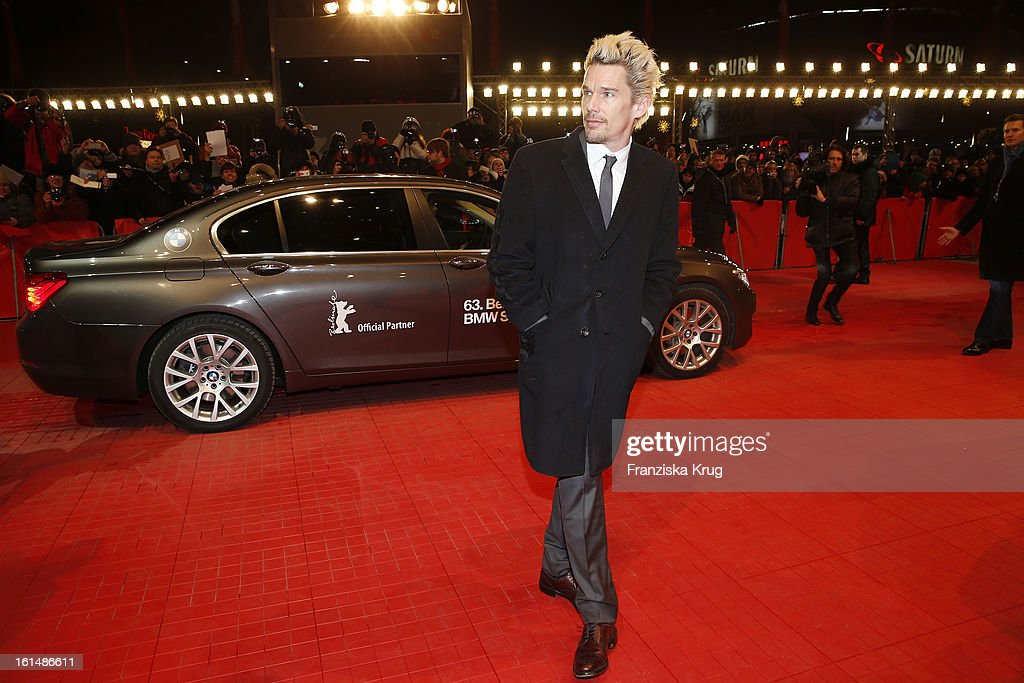 <a gi-track='captionPersonalityLinkClicked' href=/galleries/search?phrase=Ethan+Hawke&family=editorial&specificpeople=178274 ng-click='$event.stopPropagation()'>Ethan Hawke</a> attends 'Before Midnight' Premiere - BMW at the 63rd Berlinale International Film Festival at the Berlinale-Palast on February 11, 2013 in Berlin, Germany.
