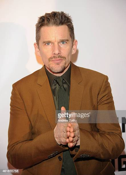 Ethan Hawke attends Museum of the Moving Image honors Julianne Moore at 583 Park Avenue on January 20 2015 in New York City
