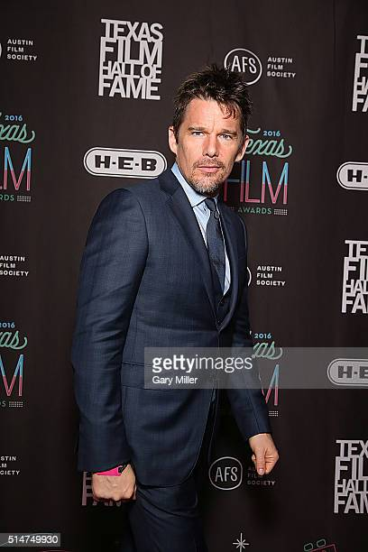 Ethan Hawke attends the Austin Film Society's 2016 Texas Film Awards at Austin Studios on March 10 2016 in Austin Texas