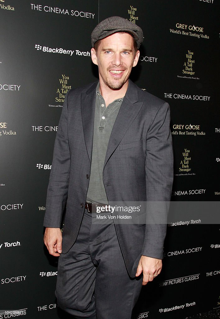 <a gi-track='captionPersonalityLinkClicked' href=/galleries/search?phrase=Ethan+Hawke&family=editorial&specificpeople=178274 ng-click='$event.stopPropagation()'>Ethan Hawke</a> attends the Cinema Society and BlackBerry Torch screening of 'You Will Meet a Tall Dark Stranger' at MOMA on September 14, 2010 in New York City.