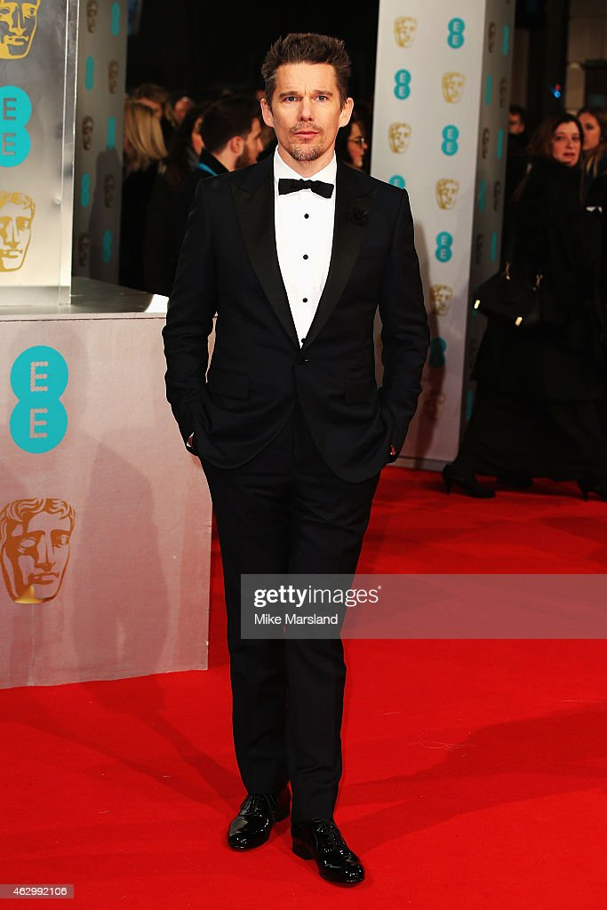 Ethan Hawke attends the EE British Academy Film Awards at The Royal Opera House on February 8 2015 in London England