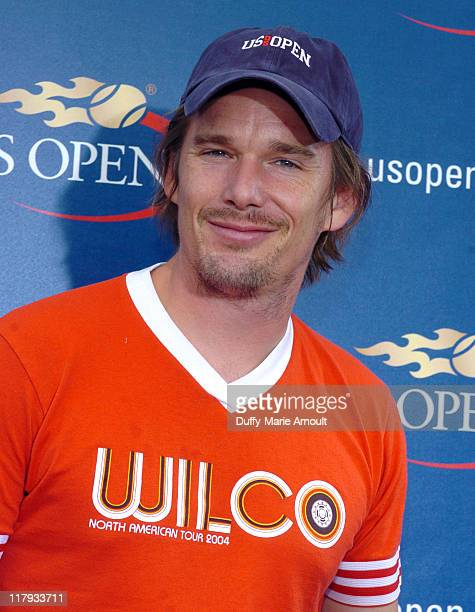 Ethan Hawke during 2005 US Open Men's Final Arrivals September 11 2005 at Mojito Restaurant at the USTA Tennis Center in Flushing New York United...