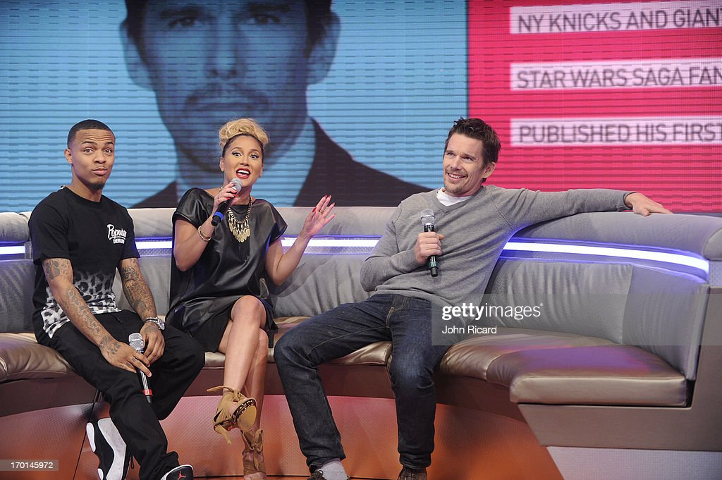 <a gi-track='captionPersonalityLinkClicked' href=/galleries/search?phrase=Ethan+Hawke&family=editorial&specificpeople=178274 ng-click='$event.stopPropagation()'>Ethan Hawke</a> visits BET's '106 & Park' at BET Studios on June 5, 2013 in New York City.