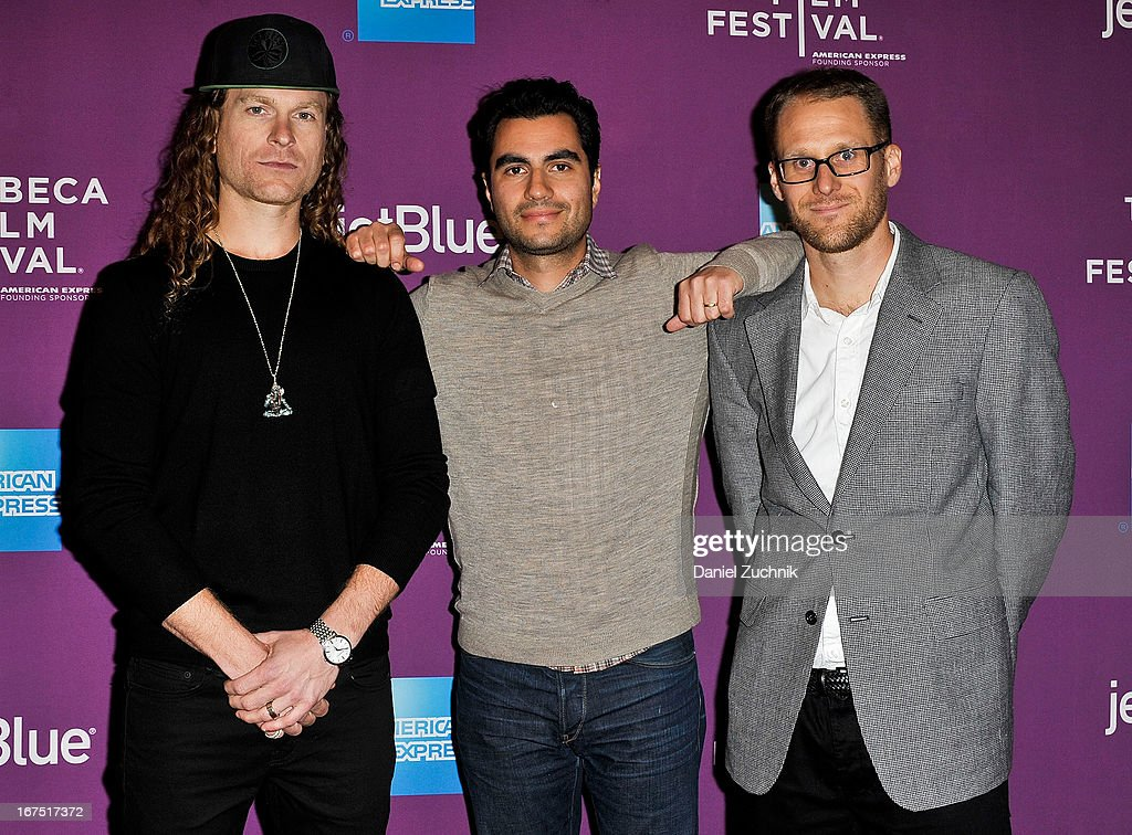 Ethan Higbee, Adam Bhala Lough and Tim Downlin attend the premiere of 'The Motivation' during the 2013 Tribeca Film Festival at SVA Theater on April 25, 2013 in New York City.