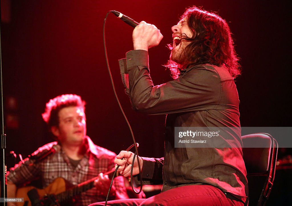 Ethan Isaac of Edisun performs during the Rock For Recovery, A Benefit For Victims Of Hurricane Sandy at the Gramercy Theatre on January 17, 2013 in New York City.