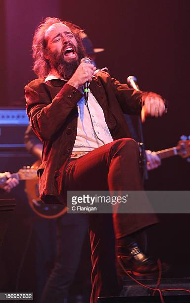 Ethan Miller of Howlin Rain performs at The Last Waltz Tribute Concert at The Warfield Theater on November 24 2012 in San Francisco California