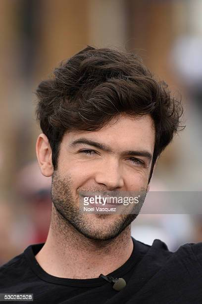 Ethan Peck visits 'Extra' at Universal Studios Hollywood on May 10 2016 in Universal City California