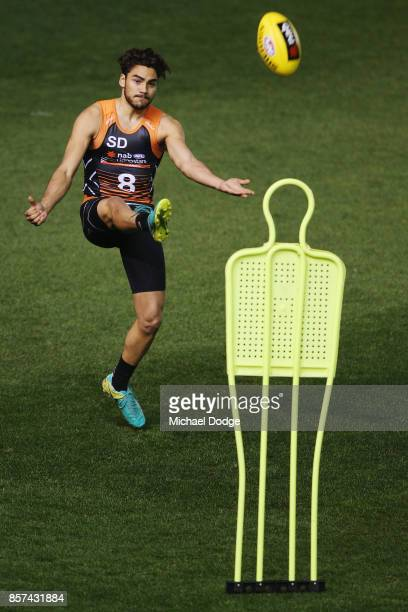 Ethan Penrith from the Northern Knights kicks the ball at goal during the AFLW Draft Combine at Etihad Stadium on October 4 2017 in Melbourne...