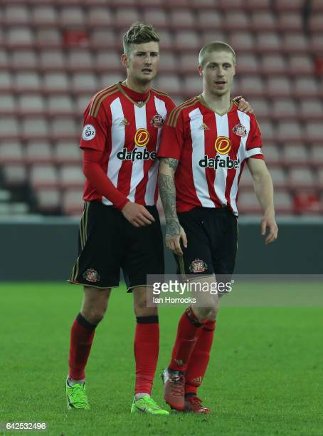 Ethan Robson and Thomas Robson of Sunderland during the Premier League International Cup Quarter Final match between Sunderland U23 and Athletic...