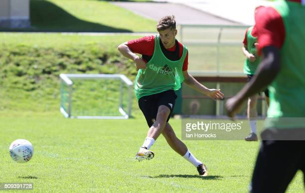 Ethan Robson during on day 5 of a Sunderland preseason camp on July 5 2017 in Obertraun Austria