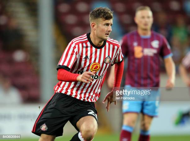 Ethan Robson of Sunderland during the Checkertrade Trophy group stage match at Glanford Park on August 29 2017 in Scunthorpe England