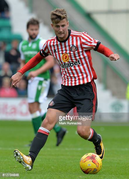 Ethan Robson of Sunderland in action during the pre season friendly between Hibernian and Sunderland at Easter Road on July 9 2017 in Edinburgh...