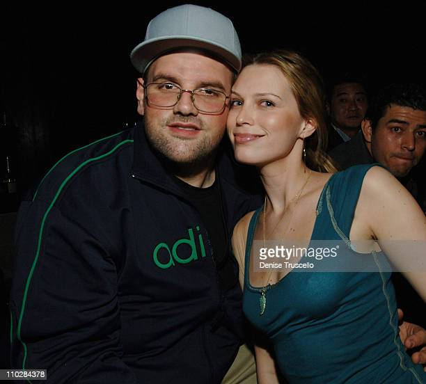 Ethan Suplee and Sara Foster during Jet Nightclub at The Mirage Grand Opening Celebration Day at Jet Nightclub at The Mirage in Las Vegas Nevada