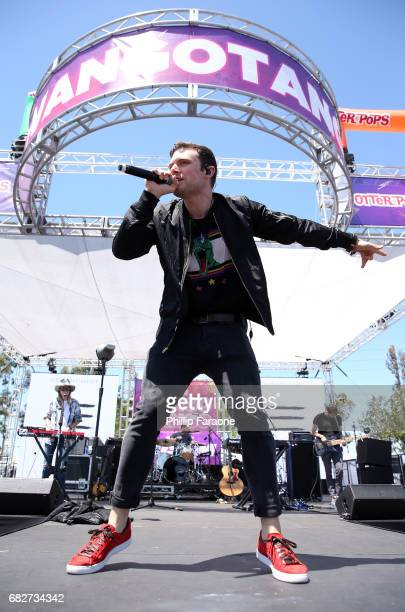 Ethan Thompson of Ocean Park Standoff performs osntage at the Village during 1027 KIIS FM's 2017 Wango Tango at StubHub Center on May 13 2017 in...