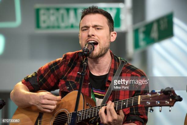 Ethan Thompson of the group Ocean Park Standoff Performs at Build Studio on April 20 2017 in New York City