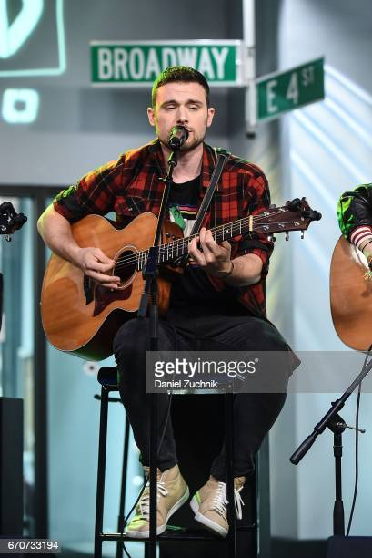 Ethan Thompson of the group Ocean Park Standoff performs during the the Build Series at Build Studio on April 20 2017 in New York City