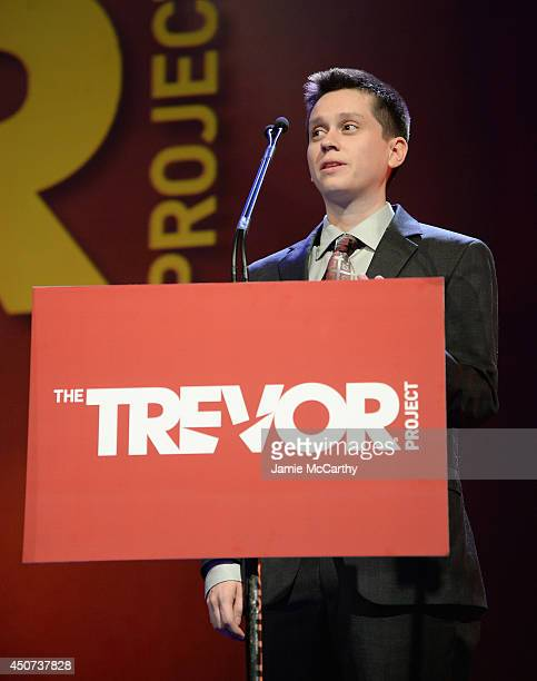 Ethan Walker Smith speaks onstage at the Trevor Project's 2014 'TrevorLIVE NY' Event at the Marriott Marquis Hotel on June 16 2014 in New York City
