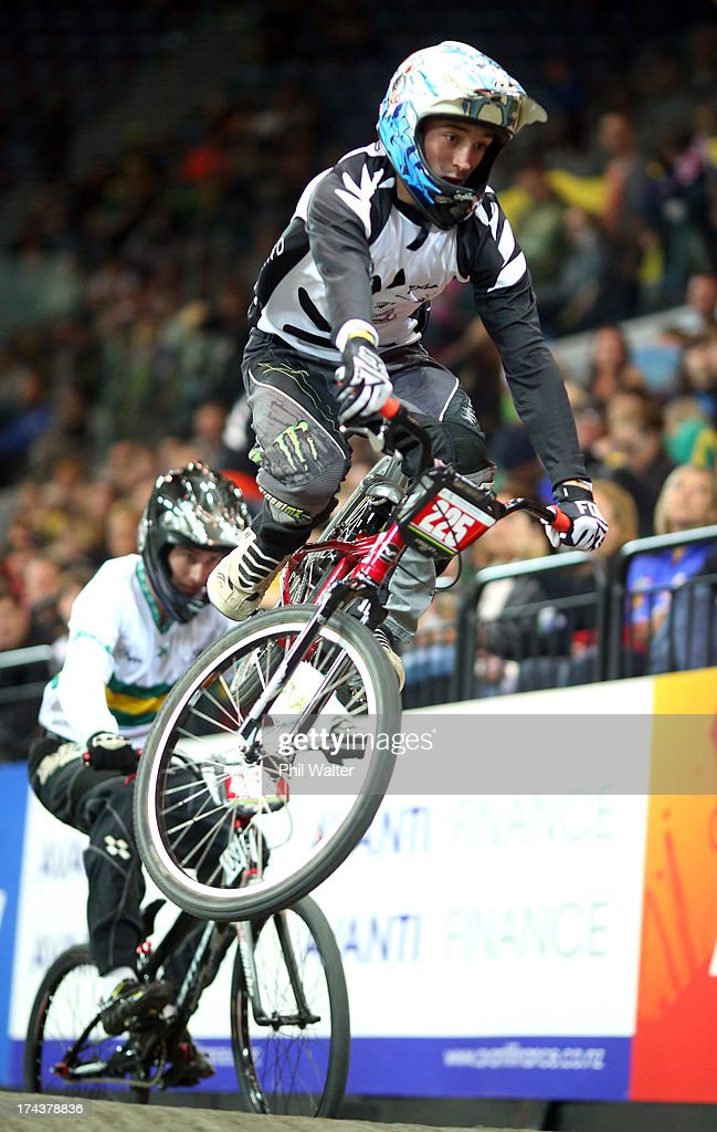 Ethan Wi of New Zealand in action during day two of the UCI BMX World Championships at Vector Arena on July 25, 2013 in Auckland, New Zealand.