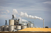 A ethanol plant in the midwest.
