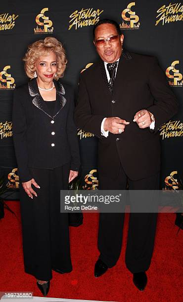 Ethel Jones and Dr Bobby Jones arrive to the 28th Annual Stellar Awards at Grand Ole Opry House on January 19 2013 in Nashville Tennessee