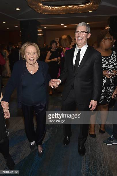 Ethel Kennedy and Apple CEO Tim Cook attend as Robert F Kennedy Human Rights hosts The 2015 Ripple Of Hope Awards honoring Congressman John Lewis...