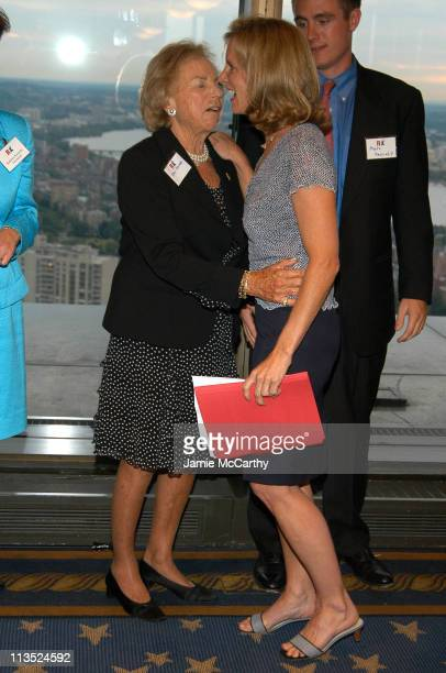 Ethel Kennedy and Kerry Kennedy Cuomo during The Robert F Kennedy Memorial Benefit Reception at The Boston College Club in Boston Massachusetts...