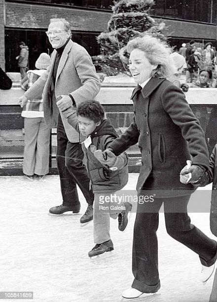 Ethel Kennedy and Lemoyne Billings during Opening of the Bedford Stuyvesant Restoration Center Ice Skating Rink at Stuyvesant Restoration Center in...