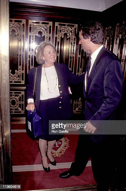 Ethel Kennedy and Robert Kennedy Junior during Creative Coalition Gala Honors Robert F Kennedy Junior at Plaza Hotel in New York City New York United...