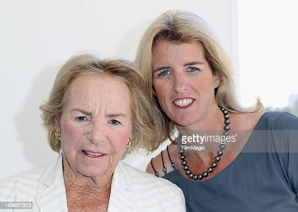 Ethel Kennedy and Rory Kennedy pose for a portrait at the HBO Summer 2012 TCA Panel at The Beverly Hilton Hotel on August 1 2012 in Beverly Hills...