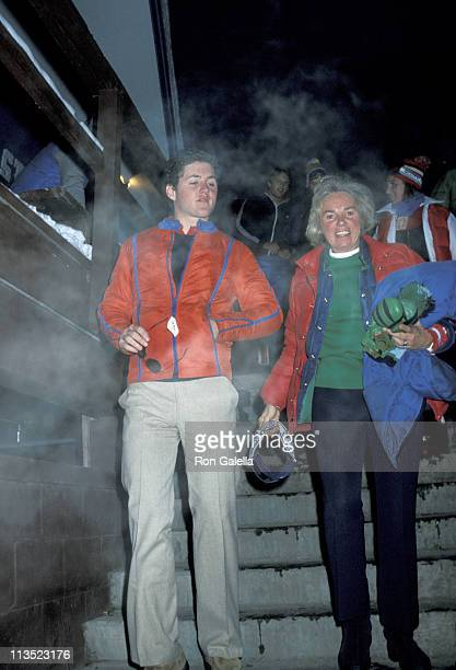 Ethel Kennedy and William Kennedy during The Kennedy Family Skiing in Aspen December 21 1977 in Aspen Colorado United States