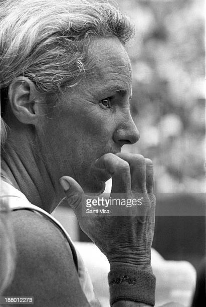Ethel Kennedy at a thennis match on June 6 1974 in New York New York