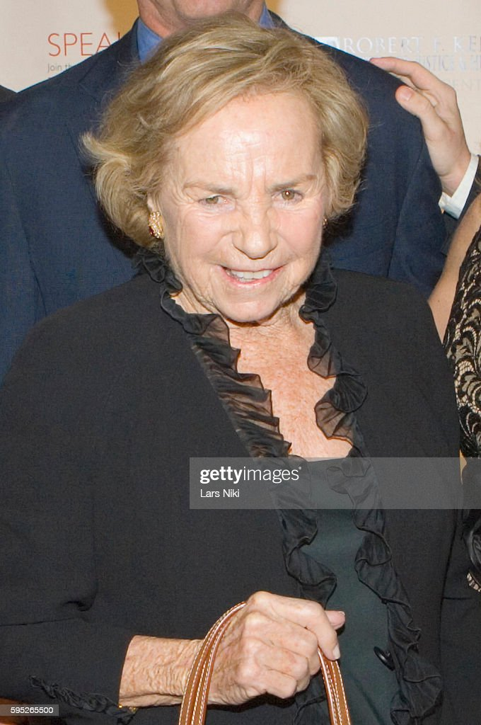 Ethel Kennedy attends the 'Robert F Kennedy Center For Justice Human Rights Bridge Dedication Gala' at Pier 60 in New York City