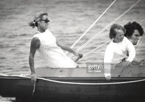 Ethel Kennedy children during Day of Sailing in Hyannis Port at Kennedy Compound Pier in Hyannis Port Massachusetts United States