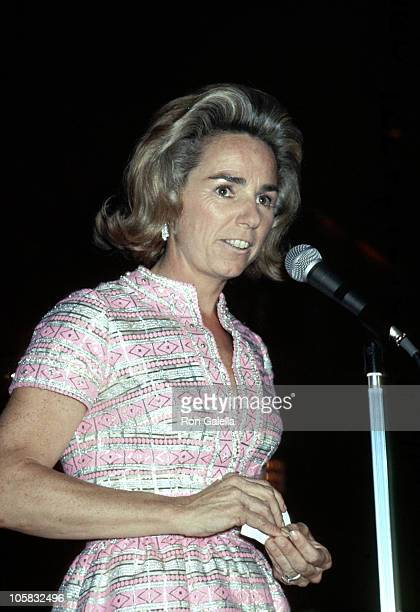 Ethel Kennedy during New York State Democratic Commitee Presents 'A Salute to Mrs Robert F Kennedy' in New York City New York United States