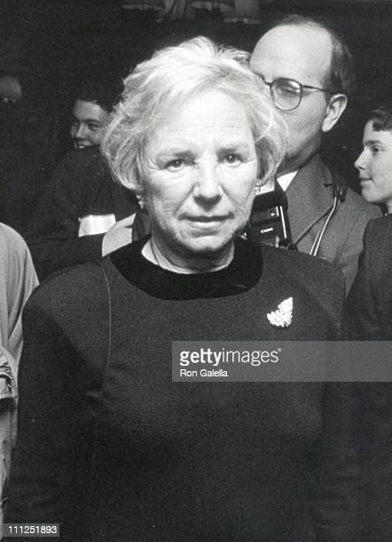 Ethel Kennedy during Performance of 'Fool Moon' to Benefit the HELP Organization at Richard Rodges Theater in New York City New York United States