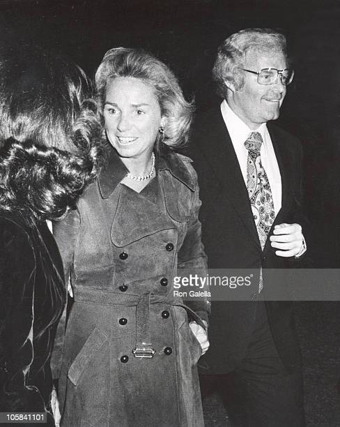 Ethel Kennedy escort during Andy Williams Opening United States