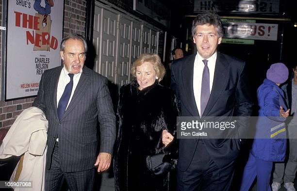 Ethel Kennedy Jeff Rhue Jim Stevenson during Preview Performance of 'Phantom of the Opera' at The Majestic Theater in New York City New York United...