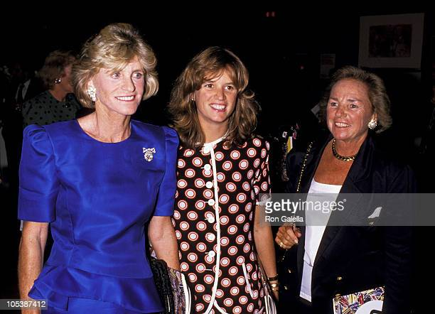Ethel Kennedy Kerry Kennedy and Jean Kennedy during Christie's Special Art Benefit at Christie's in New York City New York United States