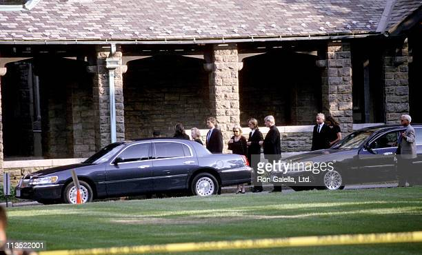Ethel Kennedy Robert Kennedy and wife during Memorial Service for Lauren Bessette at Christ Church in Greenwich Connecticut United States