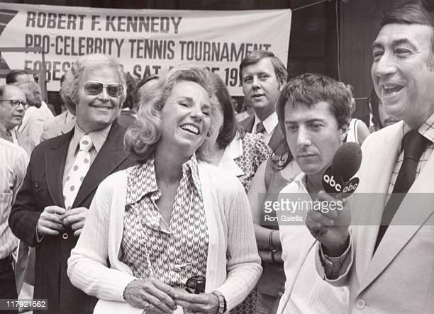 Ethel Kennedy Roone Arledge Dustin Hoffman and Howard Cosell