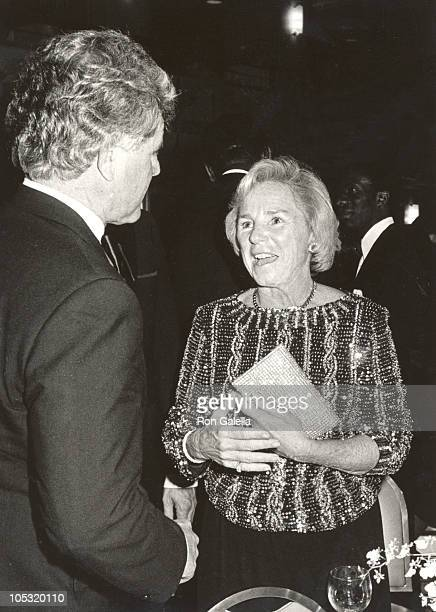Ethel Kennedy Ted Kennedy during AfricanAmerican Institute Event at Waldorf Hotel in New York City New York United States
