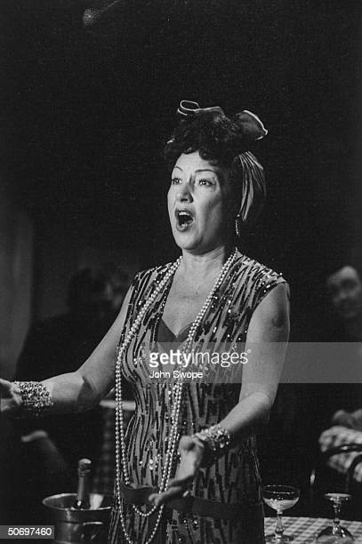 Ethel Merman singing I Get a Kick Out of You in scene during preliminary rehearsal for Anything Goes presented on TV show The Colgate Comedy Hour