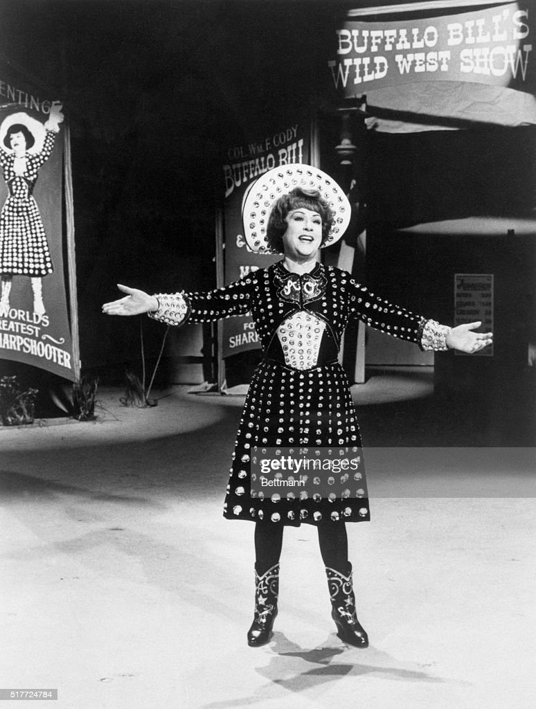 ethel merman performing in annie get your gun pictures getty images