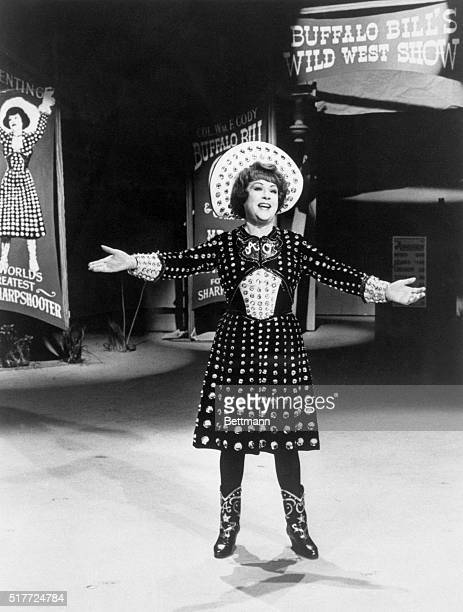 Ethel Merman sings in the role of Annie Oakley a sharpshooter in Annie Get Your Gun